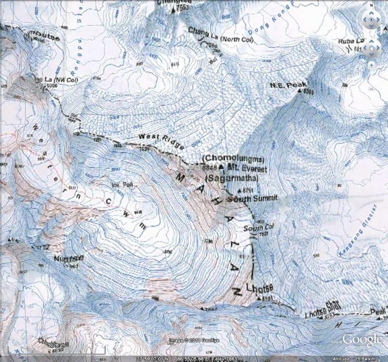Carte topographique du Mont Everest [Surcouche / Overlay pour Google Earth] Everes11