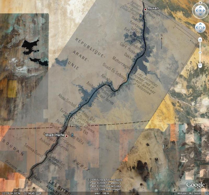 Nubie - Egypte - Soudan - Sites nubiens sous les eaux. Nub11