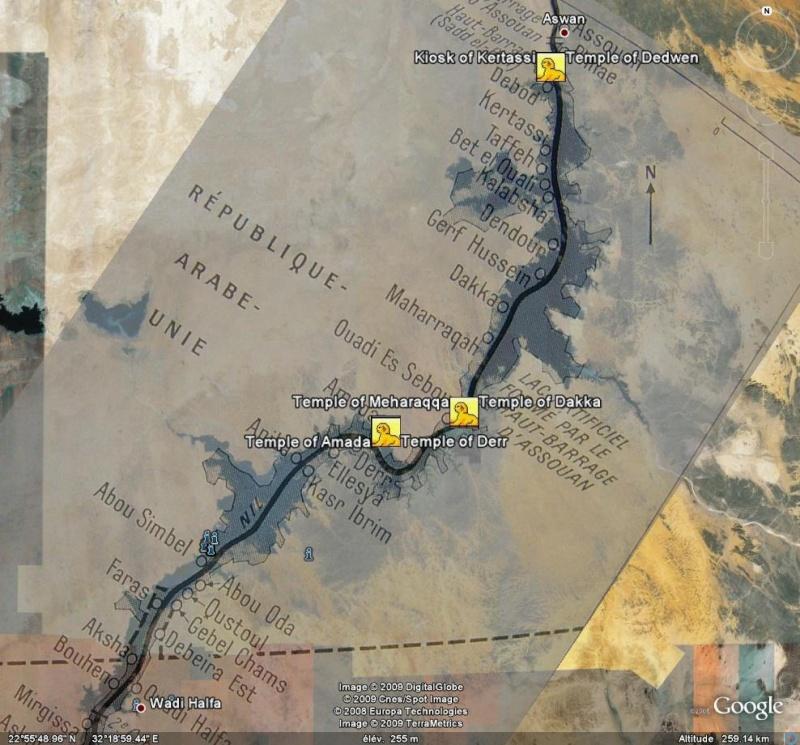 Nubie - Egypte - Soudan - Sites nubiens sous les eaux. Nub211