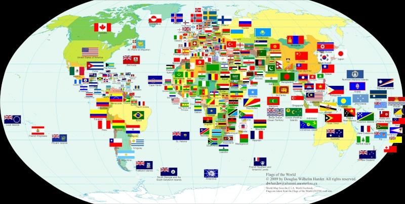 Vexillophilie drapeaux blasons tendards et autres - Carte du monde a imprimer gratuite ...