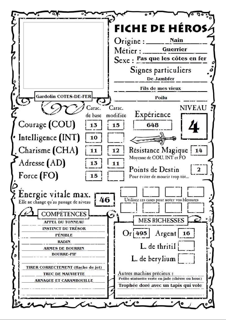 Gardolin COTES-DE-FER - [Nain Guerrier] 0121