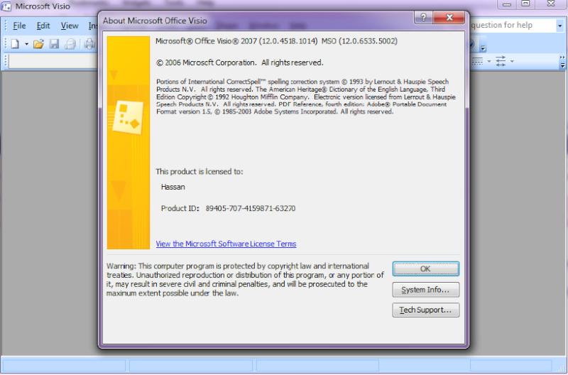 برنامج رسم الدوائر الكهربية Visio من ميكروسوفت بالسيريال Visio10