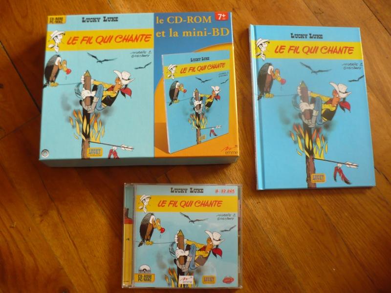"mini bd et cd-rom lucky luke ""le fil qui chante"" 01014"