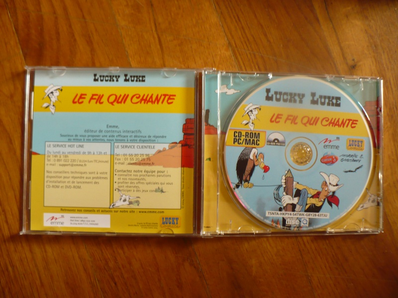"mini bd et cd-rom lucky luke ""le fil qui chante"" 01111"