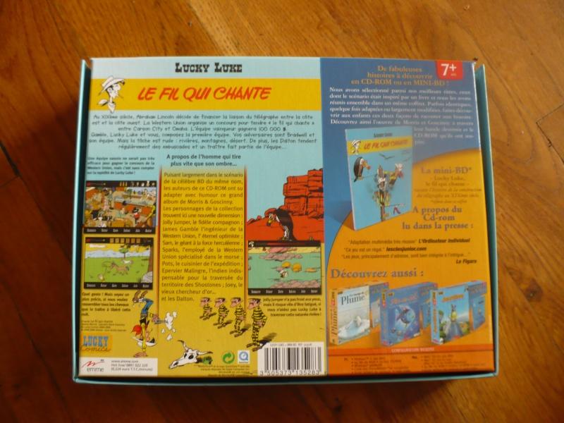 "mini bd et cd-rom lucky luke ""le fil qui chante"" 01212"
