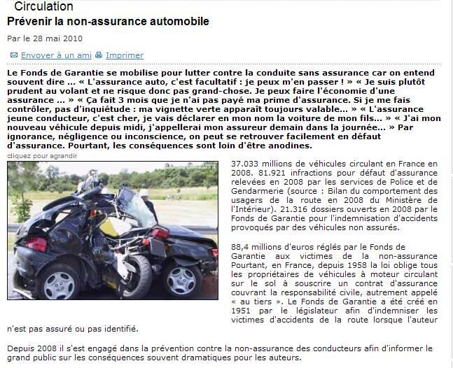 Prévenir la non assurance automobile Captur38