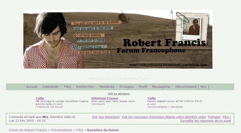 Bannière du forum Rfelo110