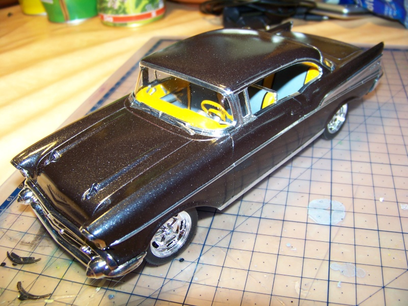 chevy 57 bel air  2 revell snaptite 1/24 1_5310
