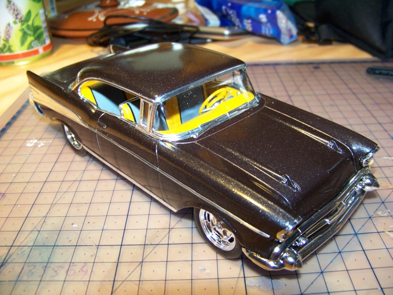 chevy 57 bel air  2 revell snaptite 1/24 1_5410