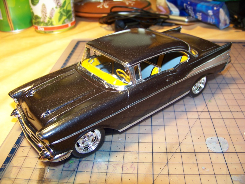 chevy 57 bel air  2 revell snaptite 1/24 1_5910