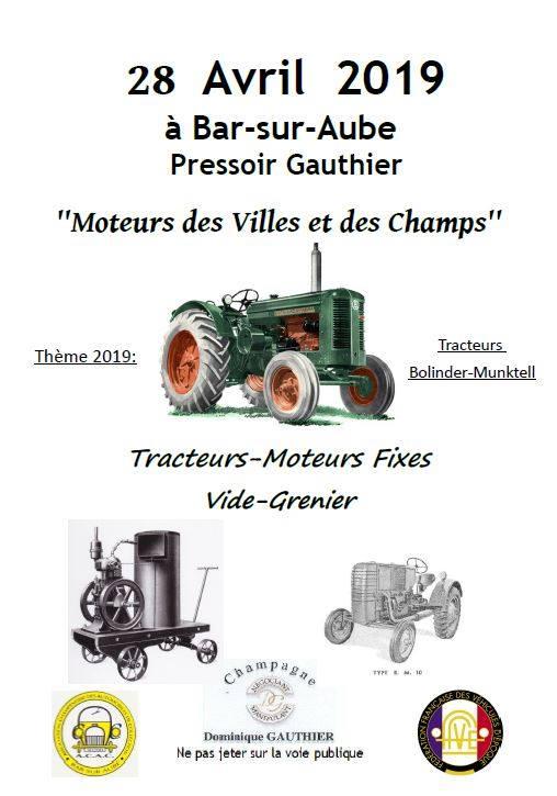 Moteurs des Villes et des Champs à Bar sur Aube 28 Avril 51156610