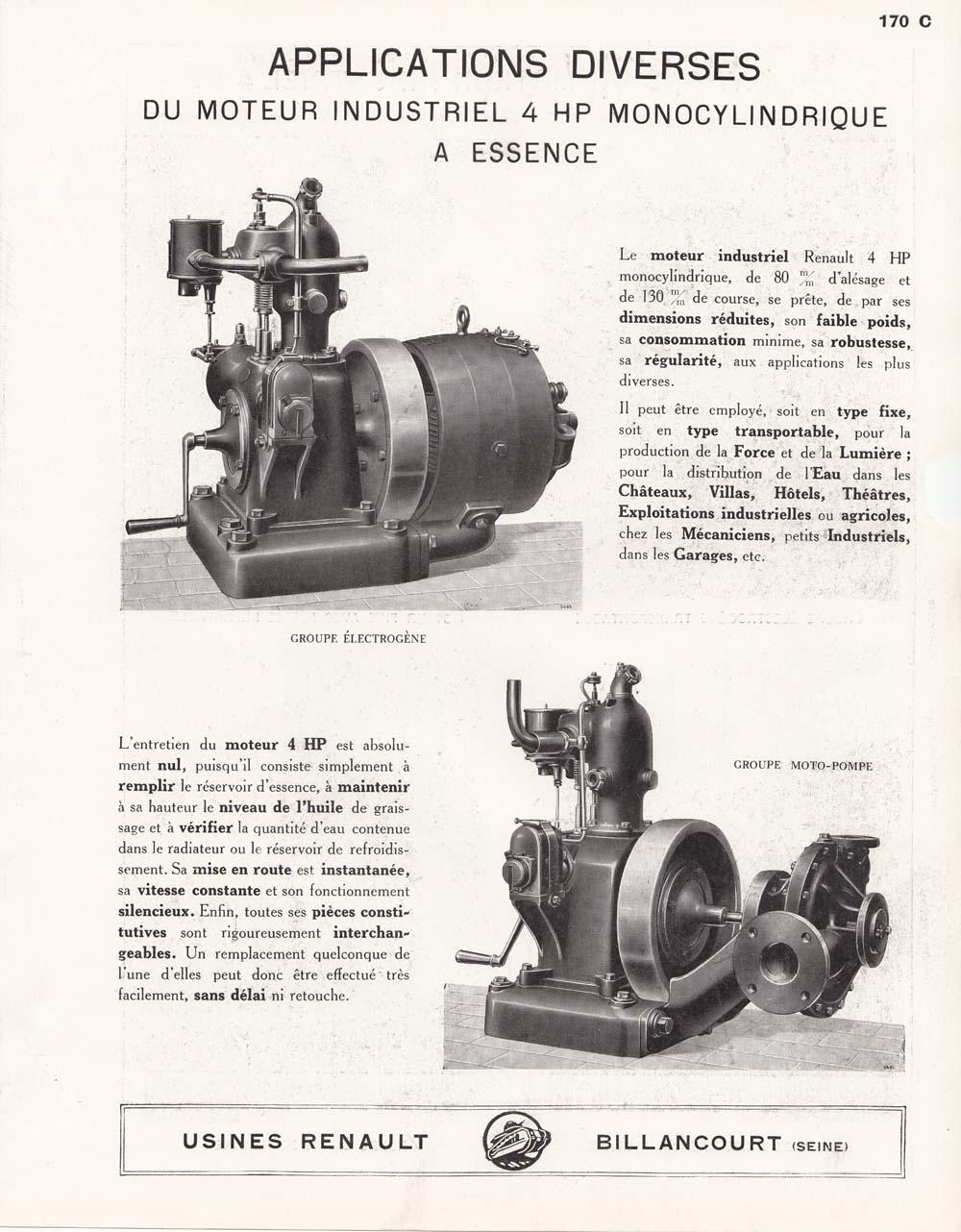RENAULT - Un moteur Renault de Billancourt  Moteur12
