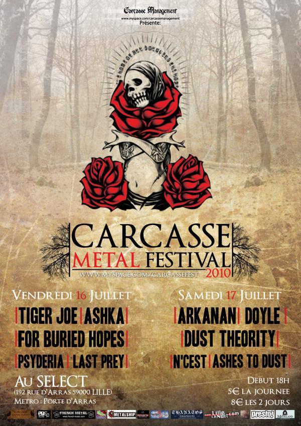 Carcasse metal festival au Select à Lille les 16 et 17/07/10 16071010