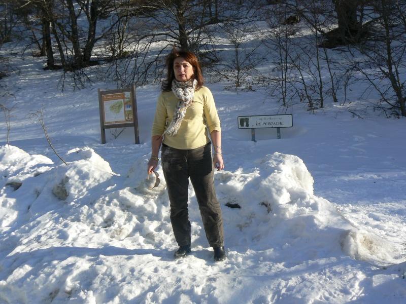 BALADE-Samedi 14/02/2009 ,Les gorges de l'Ardèche..... Neige_10