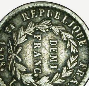 Demi-franc Napoléon Ier 1808 D. 5fe10