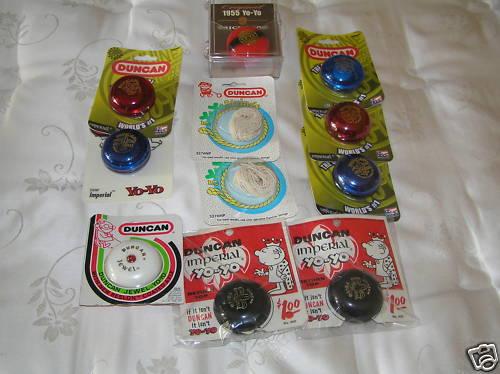 [CONCLUSA NON PART.] ebay 300392723157 NINE yo-yo some vintage imperial jewel Duncan 1955 redo Bk972p10
