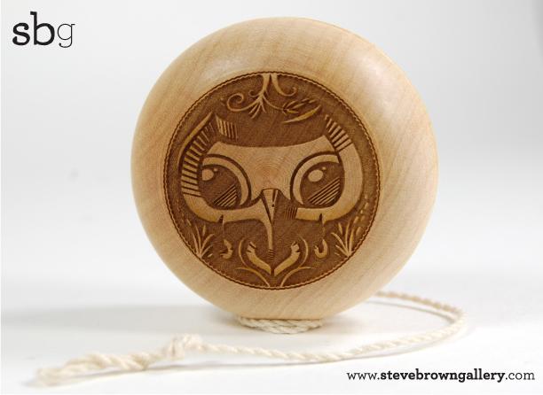 yoyo in legno da Steve Brown Limony10
