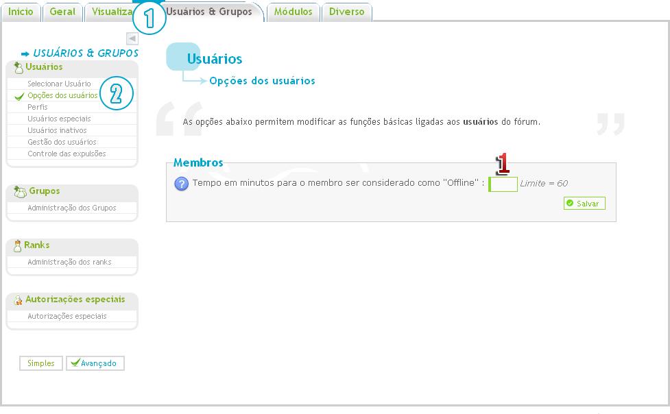 """[FAQ] Tempo limite para o membro ser considerado como """"Offline"""" Opaao11"""