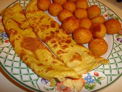 simple et rapide : l'omelette crêpe au curry Crepes10