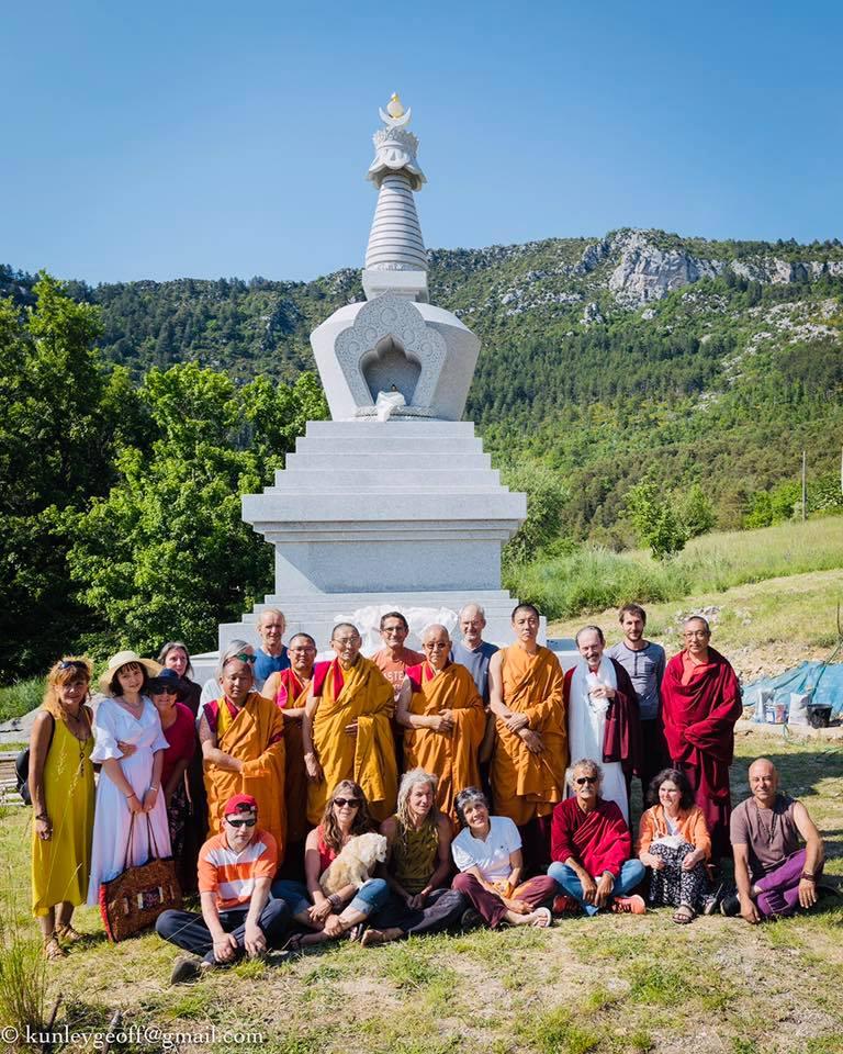 Rabjam Ripoché viendra consacrer le nouveau Stupa de Nyima Dzong Kt3810
