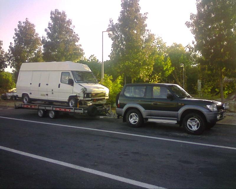 Transport d'un U23 sur remorque plateau Toy_et10