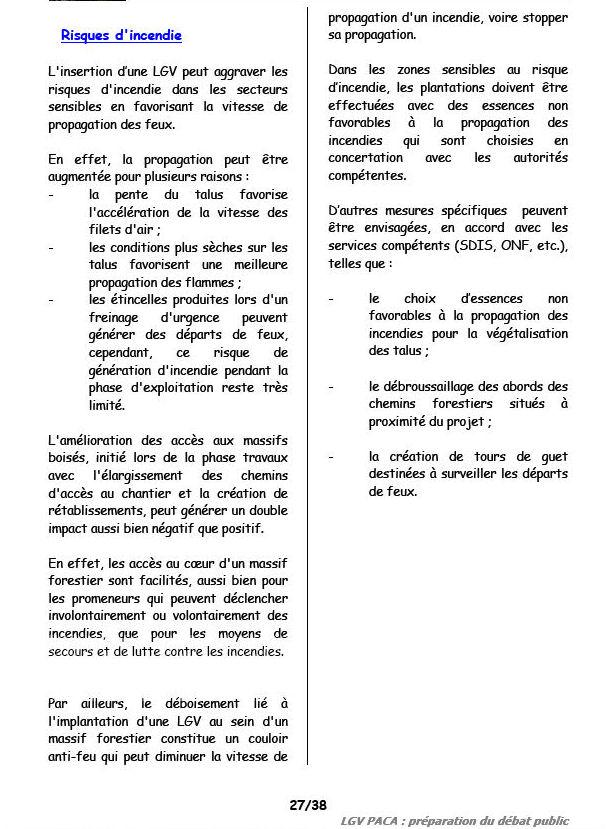 TGV : Risque d'incendies supplémentaires ! Incend11