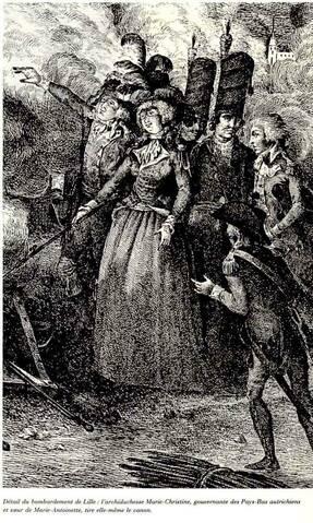 """Résultat de recherche d'images pour """"Marie-Christineest au premier rang sur le champ de bataille pour tirer le canon"""""""