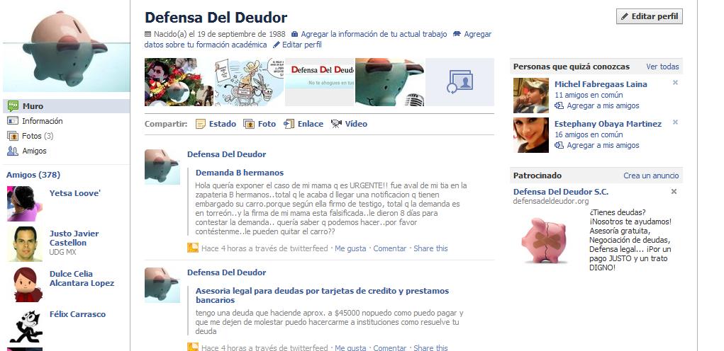 Facebook - ELDEUDOR.COM OTRO NUEVO DOMINIO PARA DDD, SC. Y ANUNCIOS EN FACEBOOK Anunci11
