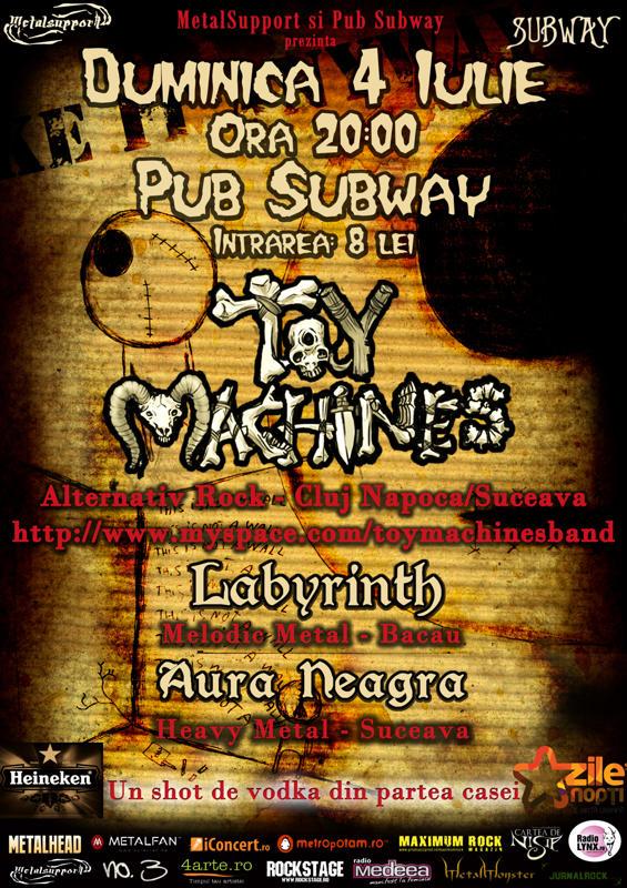Concert Toy Machines, Labyrinth si Aura Neagra in Pub Subway (Bacau) 4211