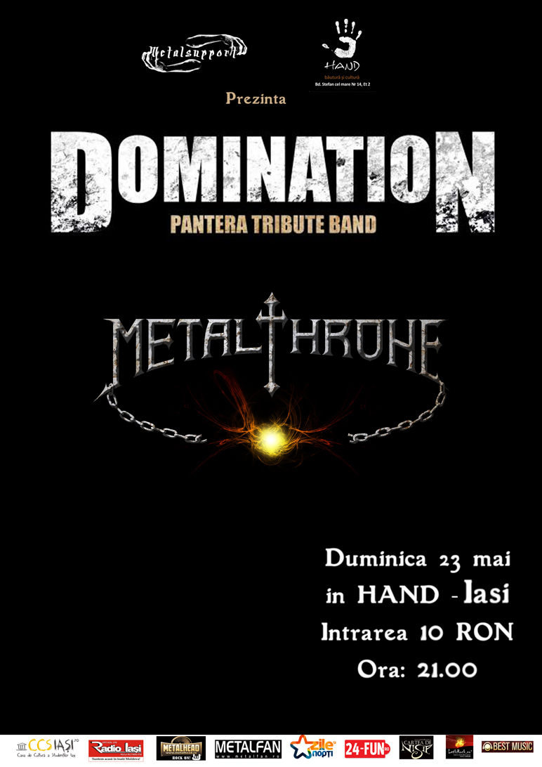 Domination si Metalhrone in Iasi, Bar Hand Afis-d10