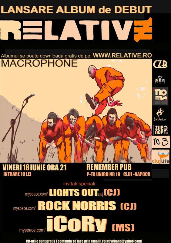 Relative - lansare de album de debut - Cluj Napoca, 18 iunie 2010 Afis_p10