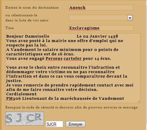 [SS] Affaire Anouck - Escroquerie 2 Dossier terminé Lettre41