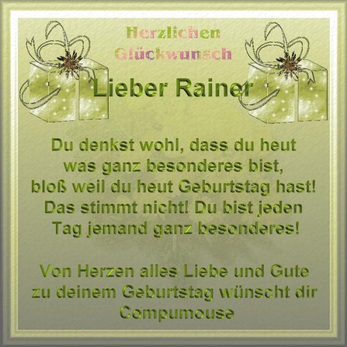 Happy Birthday Rainer Rainer10