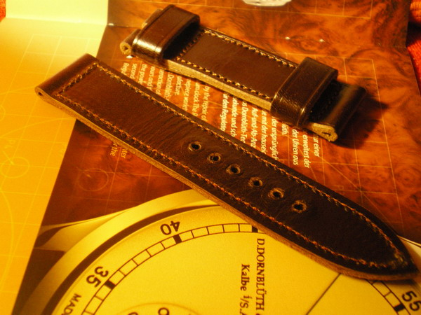 Vintage leather handmade strap for my 99.1 110