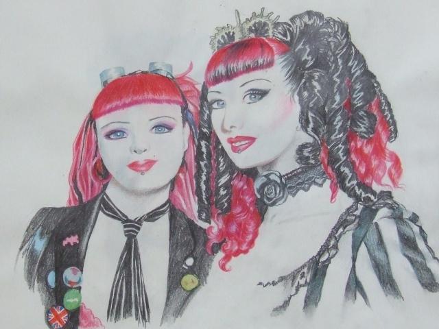 Portraits au crayons  de couleurs Dscf1212