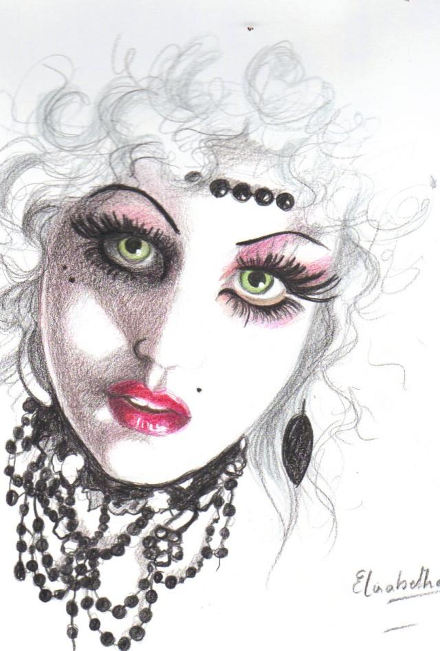 Portraits au crayons  de couleurs Laa10
