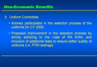 2008 ACCOMPLISHMENT REPORT Slide810
