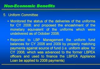 2008 ACCOMPLISHMENT REPORT Slide910