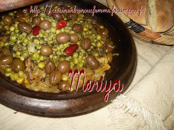 Tajine Marocain Soussi au Petits-Pois et Olives 210