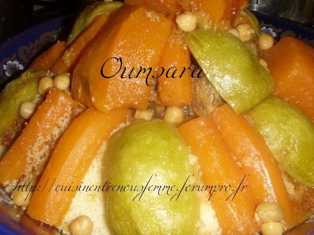 Ksskssou ou Couscous marocain avec beaucoup beaucoup et encore beaucoup de lègumes et pois chiche! Coussc10