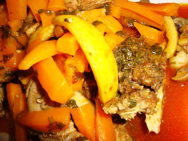 Tête du mouton aux carottes/Rass elghanmi mkhaddar b' khizou. Dsc08225