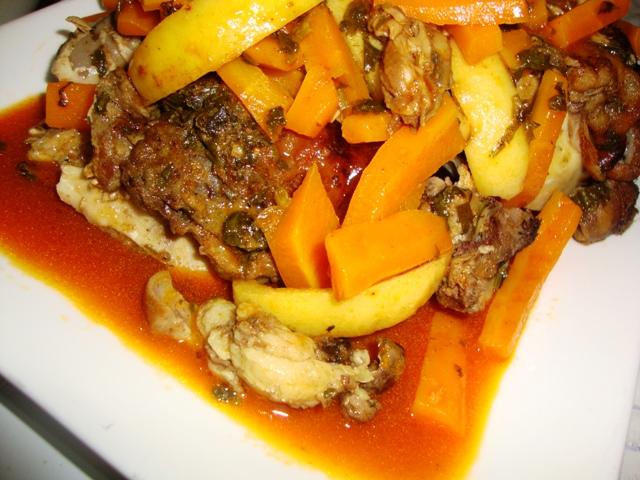 Tête du mouton aux carottes/Rass elghanmi mkhaddar b' khizou. Dsc08227