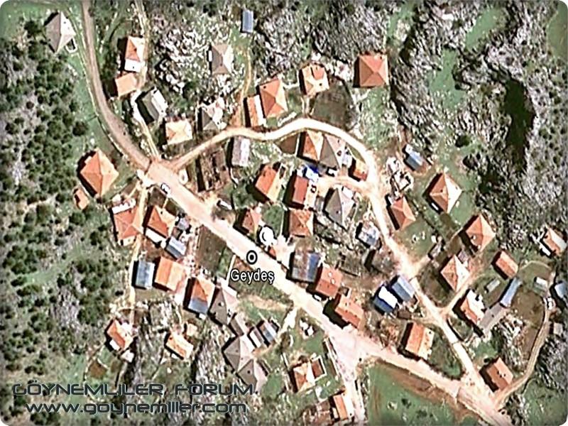 Bakılar,Geydeş,Kayaarası ve Pınarbaşı'na uzaydan bakış Geydes10