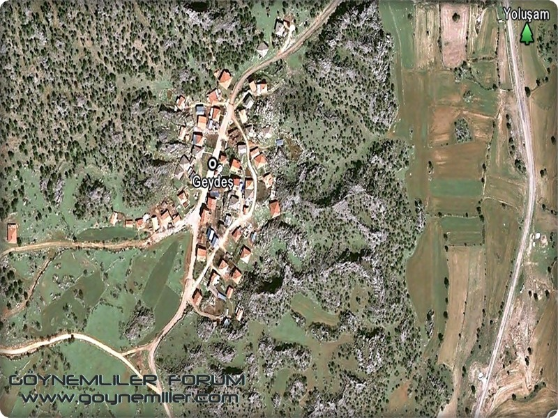 Bakılar,Geydeş,Kayaarası ve Pınarbaşı'na uzaydan bakış Geydes11