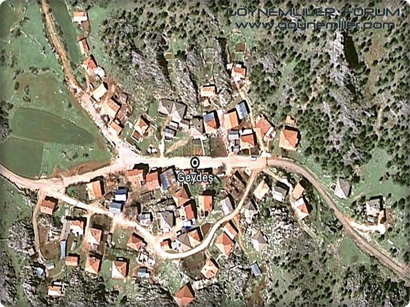 Bakılar,Geydeş,Kayaarası ve Pınarbaşı'na uzaydan bakış Geydes12