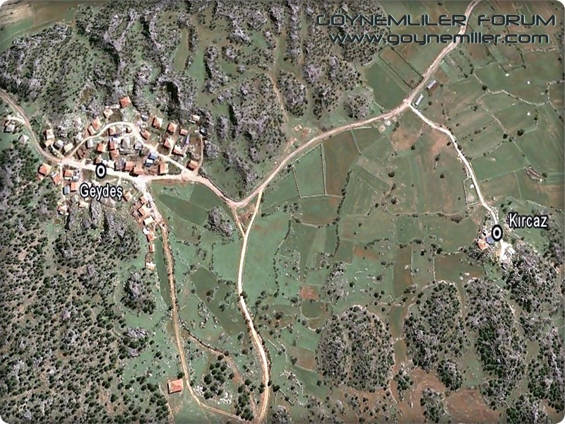 Bakılar,Geydeş,Kayaarası ve Pınarbaşı'na uzaydan bakış Geydes13