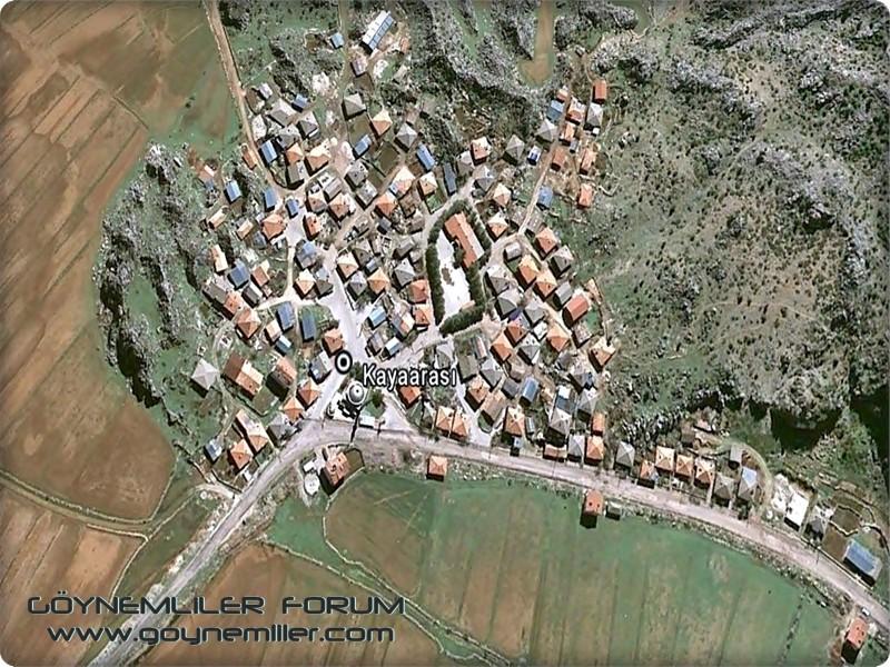 Bakılar,Geydeş,Kayaarası ve Pınarbaşı'na uzaydan bakış Kayaar10