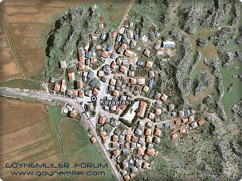 Bakılar,Geydeş,Kayaarası ve Pınarbaşı'na uzaydan bakış Kayaar11