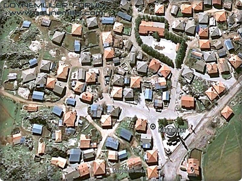 Bakılar,Geydeş,Kayaarası ve Pınarbaşı'na uzaydan bakış Kayaar12