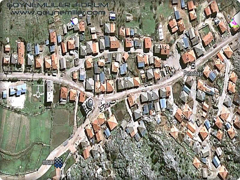 Bakılar,Geydeş,Kayaarası ve Pınarbaşı'na uzaydan bakış Pinarb10
